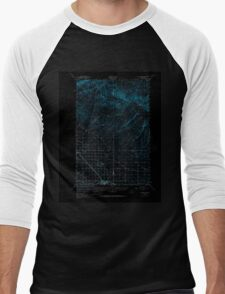 USGS Topo Map Washington State WA Grandview 241378 1950 62500 Inverted Men's Baseball ¾ T-Shirt
