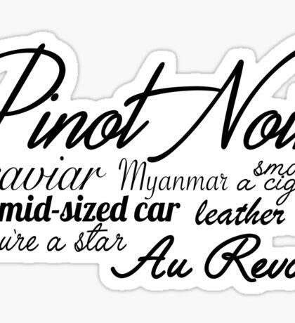 Pinot Noir - Black  Sticker