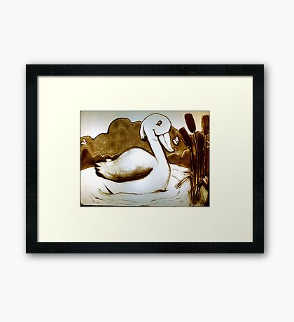 Duck and Butterfly Framed Print