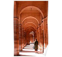 A lady in the Archways of Paris, France Poster