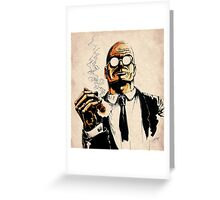 Cigar smoker Greeting Card