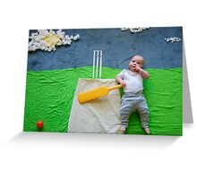 The Cricket Player Greeting Card