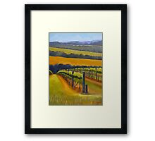 Vineyard Mornington Peninsula Framed Print