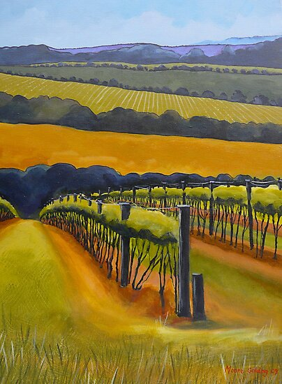 Vineyard Mornington Peninsula by Elizabeth Moore Golding