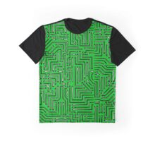 Black and White Circuit Board 1 Graphic T-Shirt