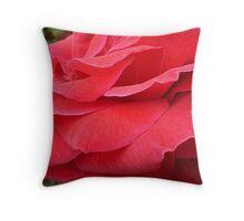 Red Glamorous Petals  Throw Pillow