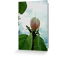 cloudy flower Greeting Card