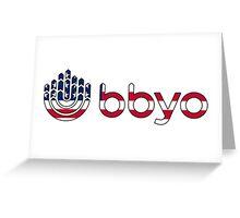 BBYO American Flag Greeting Card