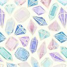 Pastel Watercolor Gems by Tangerine-Tane