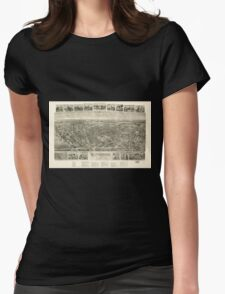 Panoramic Maps Rutherford New Jersey 1904 Womens Fitted T-Shirt