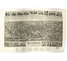 Panoramic Maps Rutherford New Jersey 1904 Poster