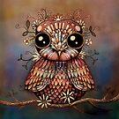little rainbow flower owl by © Karin (Cassidy) Taylor