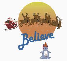 Christmas - Believe in Santa Claus One Piece - Short Sleeve