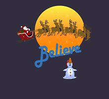 Christmas - Believe in Santa Claus Womens Fitted T-Shirt