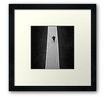 The Marathon Man Framed Print