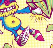 Sahnic Staaaahp! (blue background) Sticker