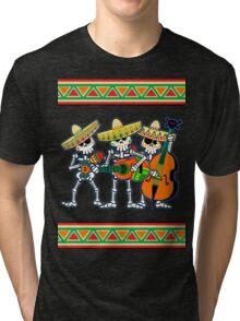 los músicos de los muertos Tri-blend T-Shirt
