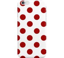 White and Red Polka Dot iPhone Case iPhone Case/Skin