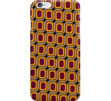 That 70's Design - Brown Orange Maroon on Black Background iPhone Case/Skin