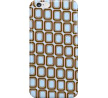 That 70's Design - Brown Grey Blue on Light Blue Background iPhone Case/Skin