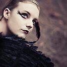 Blackbird Portrait by Trish Woodford