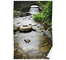 Small Waterfall Landscape Poster