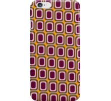 That 70's Design - Brown Pink Maroon on Orange Background iPhone Case/Skin
