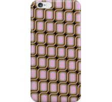 That 70's Design - Brown Grey Pink on Black Background iPhone Case/Skin