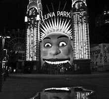 Luna Park, Sydney Australia by Justine Wright