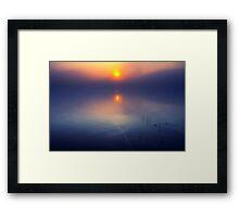 A Mystery Morning Framed Print