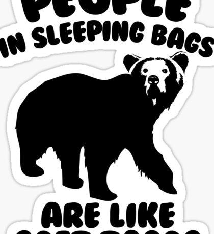 Camping Humor - Bear Food Sticker