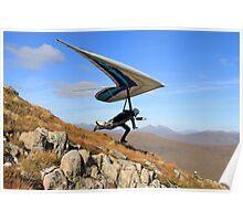 Hang Glider, Meall a' Bhùiridh, Scotland Poster