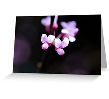 pink and black Greeting Card