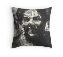 laughing lady Throw Pillow