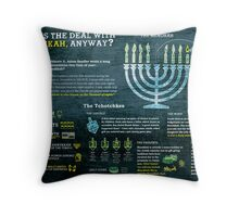 Hanukkah explained: A Jewish holiday infographic Throw Pillow