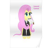 Fluttershy Laurel Lance  Poster