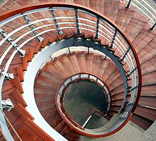 Spiraling Staircase Seen  From Above by fotogenicdesign