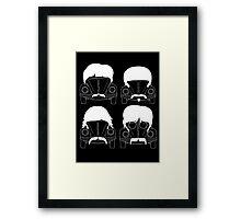 The Beatles - White Framed Print