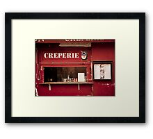 Europe: Paris, Creperie Framed Print