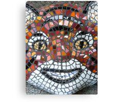 Mosaic Tiger mask Canvas Print