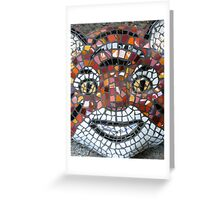 Mosaic Tiger mask Greeting Card