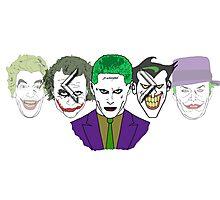 Joker face selector - DCEU Joker Photographic Print