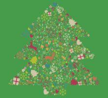 Christmas Tree 02 Kids Tee