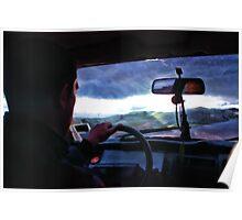 Driving Through The Rain Poster