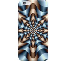 Whirling Dervish in Blue and Brown iPhone Case/Skin