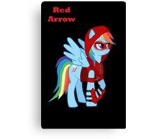 Rainbow Dash Red Arrow Canvas Print