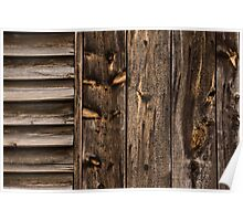 Weathered Wooden Abstracts - Three Poster