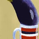 Aubergine in a mug by Simon Rudd
