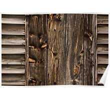 Weathered Wooden Abstracts - 1 Poster