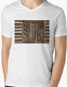 Weathered Wooden Abstracts - 1 Mens V-Neck T-Shirt